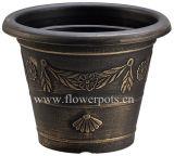 装飾的な円形の植木鉢(KD3102S-KD3105S)