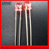 HHE cilíndrico de color rojo de 3mm con LED de la brida (HH-3TOCAR741)