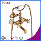 Fyeer Bathroom Antique Faucet de telefone Kit de misturador de duche