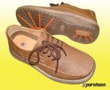 Los zapatos de cuero casual (P00007369)