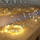 Lumières étoilées Supplémentaire-Minces de chaîne de caractères de lumière de cuivre imperméable à l'eau multifonctionnelle de nuit pour la quirlande électrique de la noce IP65 de Noël