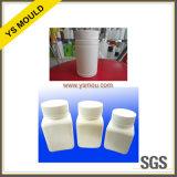 Molde plástico do frasco e do tampão do comprimido