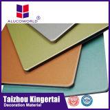 Alucoworld de 12 años de metal paneles exteriores revestimiento ACP Panel Compuesto de Aluminio de diseño