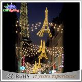 Luz ao ar livre do motivo da skyline do diodo emissor de luz da decoração do Natal da rua