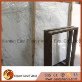 Parte superiore di marmo bianca di vanità del marmo delle mattonelle del marmo della lastra della strada privata della Grecia Ariston