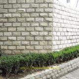 城の石塀の石のモザイク石の外面の装飾
