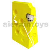 Le laçage jouet en bois avec du fromage et de la souris (80159)