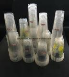 A bebida desobstruída dos copos de Transparents dos copos do plástico coloca os copos 360ml de 12oz 13oz com impressão do logotipo