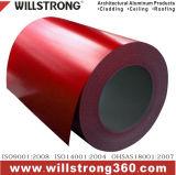 La Cina ha colorato la bobina di alluminio del rivestimento