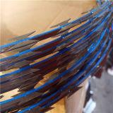 Acier galvanisé ou revêtus de PVC bobine 33 boucles Razor barbelés