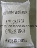백색 크리스탈 과립 나트륨 Metabisulphite를 황변하는 백색