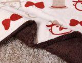 Panno morbido di corallo con la manovella del bambino della coperta del velluto di cotone di Shu/panno morbido di Sherpa