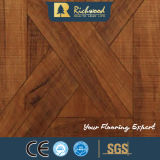 pavimentazione laminata orlata incerata teck di struttura della venatura del legno di 8.3mm E1 AC3 HDF