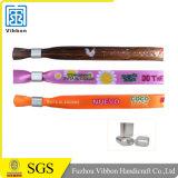 Изготовленный на заказ одноразовый Wristband сатинировки печатание полного цвета