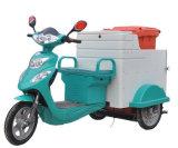 Triciclo elettrico di pulizia dell'immondizia del carraio 500W dei rifiuti tre del triciclo dei rifiuti