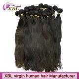 Pacotes peruanos de vista naturais do cabelo 7A reto de Xbl
