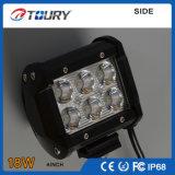 Luz de trabalho Offroad 4WD do diodo emissor de luz da auto lâmpada do diodo emissor de luz do CREE 18W