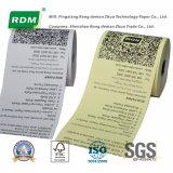 Documento termico colorato della ricevuta per il registratore di cassa elettronico