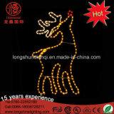 Lumière au néon de motif de câble de renne blanc de DEL pour la décoration d'intérieur et extérieure de rue de Noël