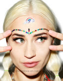 De Sticker van de Juwelen van de Diamant van het Gezicht van het Oog van de Gevolgen van de Make-up van de Partij van de Festivallen van de Muziek EDM (S022)