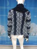 Herbst-und Winter-Wolljacke-Form-Frauen-Strickjacke-Frauen-grosse beiläufige strickende Strickjacke