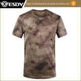 Tour de cou à manches courtes maille Quick-Drying Camouflage T-Shirt