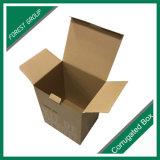 Color marrón natural o caja de cartón ondulado, caja de embalaje personalizado