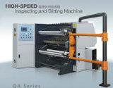 Inspección de alta velocidad y la máquina de corte longitudinal de BOPP