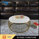 Table basse à haute brillance de première table basse de marbre ronde de meubles