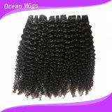 2017年のQuercyの最上質の100%自然なねじれたカールのブラジルのバージンの人間の毛髪の拡張(KCW-102)