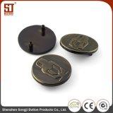 Botón simple de la aleación del metal de Monocolor de la manera de la fábrica para los pantalones
