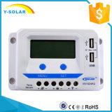 regulador Dual-USB/2.4A Vs1024au de la batería del panel solar de 24V/12V 10A LCD