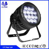 18X3W LED de luz de la etapa de luz LED Discoteca//Movimiento de la luz de la cabeza