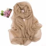 Simplification de la plage de couleur unie fine mousseline de soie sarong / Volé (HWBPS901)