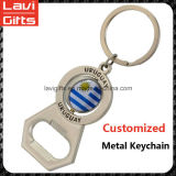 Metallo su ordinazione Keychain di promozione con l'apri di bottiglia