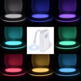 El cambio de pilas de movimiento activa el LED de cuarto de baño Wc Luz de noche