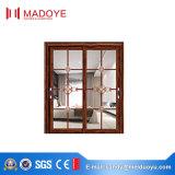Último diseño Metel puerta corrediza de vidrio doble fabricado en China