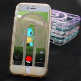 Claro caso de teléfono de Pokemon de TPU para iPhone 7/6 de los casos