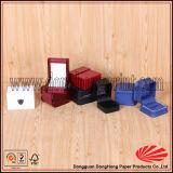 Almohada dentro de cuadrados en forma de lujo de cuero PU caja de reloj