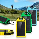 5000mAh Dual-USB cargador de batería impermeable batería de energía solar para teléfono celular