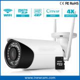 Nuevas 4X cámaras de seguridad sin hilos ópticas del IP del zoom 4MP con la tarjeta de 16g SD