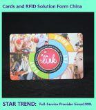 Cartão do PVC do selo de Printing&Hot da fora-Set&Silk-Tela