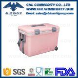 Refrigerador de caixa de gelo de refrigerador portátil de plástico portátil com alça