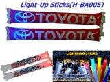 싼 팽창식 플라스틱 광고 풍선 LED 갈채를 보내는 지팡이