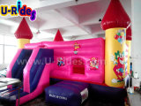 Palhaço e princesa Pink Jumping Inflatable castle