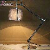 Double Rocker Arm Lampes de table rotatives et éclairage de lecture pour chambre à coucher