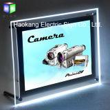 Реклама акриловые светодиодного освещения в салоне с кристально чистым Photo Frame для магнитного изображение легких
