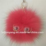 卸し売りキツネの毛皮の球のKeychainのキツネの毛皮POM Poms