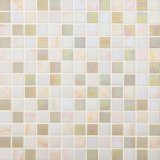 Mosaïque en verre beige pour la cuisine et la douche