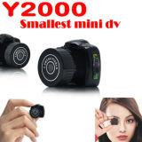 Mini videocamera portatile DV DVR del magnetoscopio della macchina fotografica del più piccolo webcam di 720p Y2000 HD